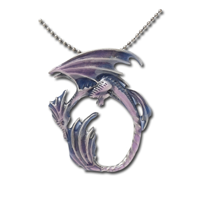 Moon Dragon Necklace: J202