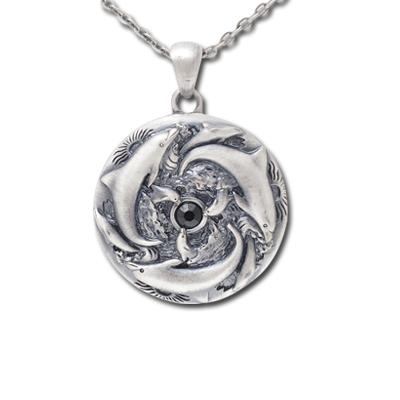 Dolphin Trinity Necklace