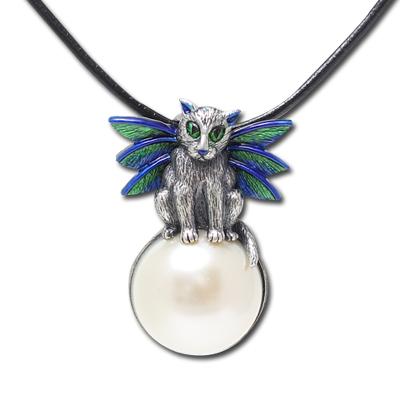 Bubble Fairy Cat Necklace: J243