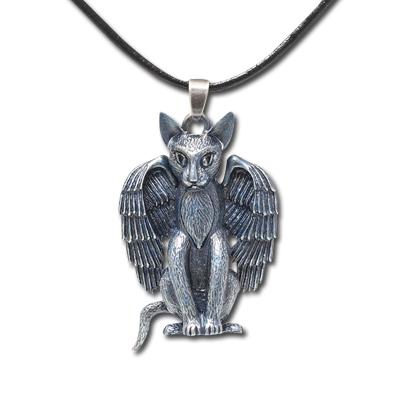 Ravens Moon Cat Necklace: 246