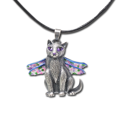 Deadragonfly Cat Necklace: J250