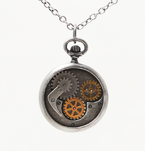 Steampunk Compass Necklace: J335