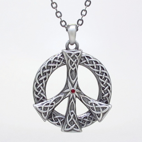 Celtic Peace Necklace: J354