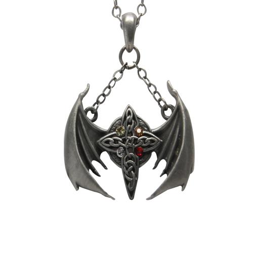 Celtic Cross Wings Necklace: J391