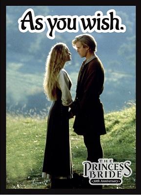 Deck Protector: Princess Bride: As You Wish (50 Sleeves)