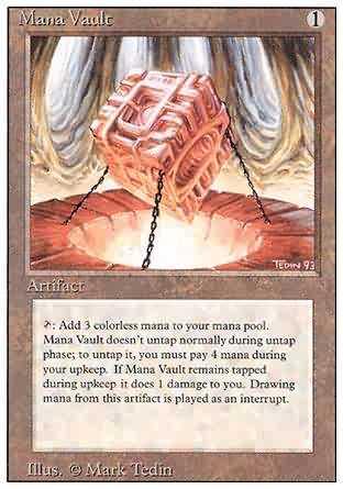 Mana Vault - (3rd ed, 4th ed, Ultimate Masters)