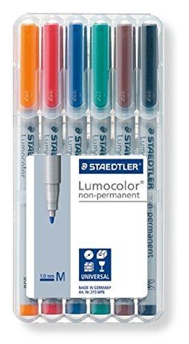 Lumocolor : non-permanent (6 markers)