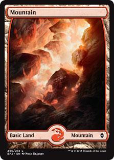 Mountain - Battle for Zendikar (Full Art)