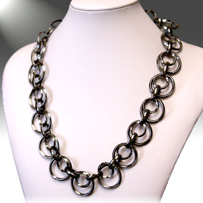 Dark Silver Necklace