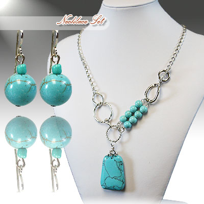 Turquoise Necklace Sets: 647601