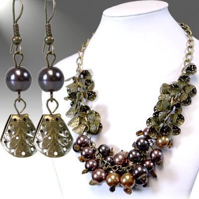Antique Gold / Brown Necklace Sets