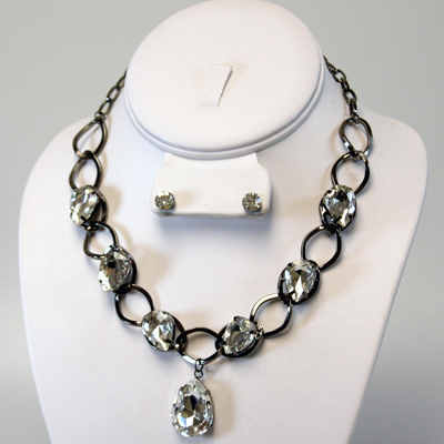 Dark / Silver / Clear Necklace Sets