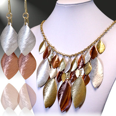 Gold / Coper / Silver Necklace Sets