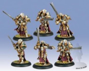 Warmachine: Protectorate of Menoth: Knights Exemplar Unit: Plastic: 32082 - Used