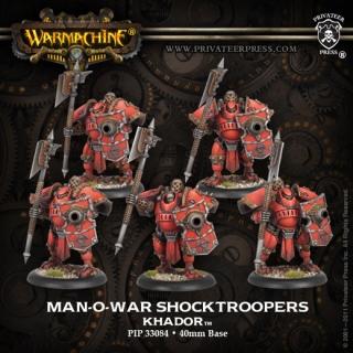 Warmachine: Khador: Man-O-War Shocktroopers (Plastic): 33084 - Used