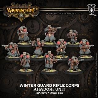 Warmachine: Khador: Winter Guard Rifle Corps Unit: 33096