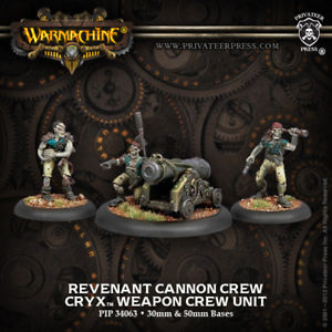 Warmachine: Cryx: Revenant Cannon Crew: 34063 - Used
