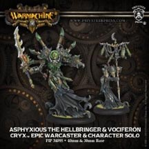 Warmachine: Cryx: Asphyxious the Hellbringer and Vociferon Epic Warcaster and Character Solo: 34095