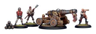 Warmachine: Mercenaries: Commodore Cannon and Crew