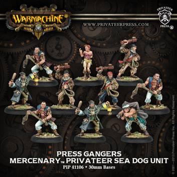 Warmachine: Mercenaries: Press Gangers (10): 41106 - Used