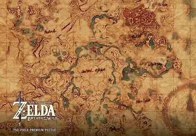 Puzzle: Zelda: Hyrule Map (Breath of the Wild)