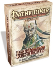 Pathfinder Role Playing Game: Face Cards: Rise of the Runelords