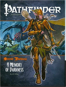 Pathfinder: Adventure Path: Second Darkness: A Memory of Darkness - Used
