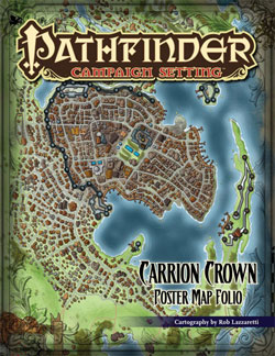 Pathfinder: Campaign Setting: Carrion Crown Poster Map Folio