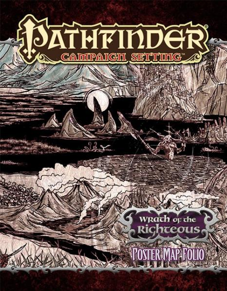 Pathfinder: Campaign Settings: Wrath of the Righteous: Poster Map Folio