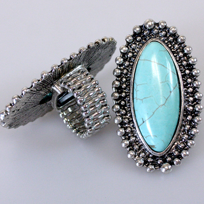 Antique Silver Ring: Long