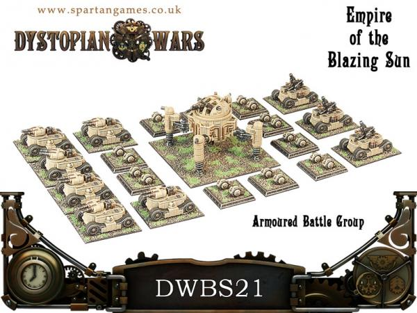 Dystopian Wars: Empire of the Blazing Sun: Armoured Battle Group Box Set