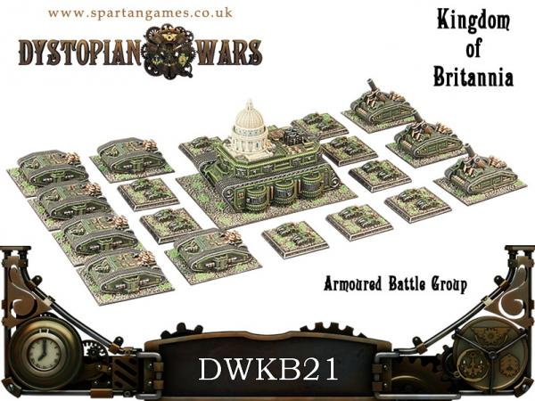 Dystopian Wars: Kingdom of Britannia: Armoured Battle Group Box Set