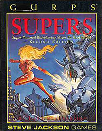 Gurps 3rd : Supers 2nd ed: Super-Powered Roleplaying Meets the Real World  - Used