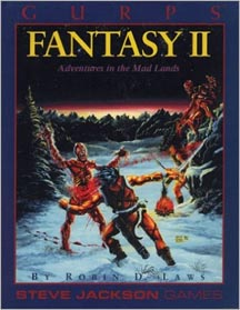 Gurps 3rd Ed: Fantasy II Adventures in the Mad Lands - Used
