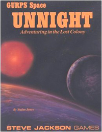 GURPS 3rd ed: Unnight: Adventuring in the Lost Colony - Used