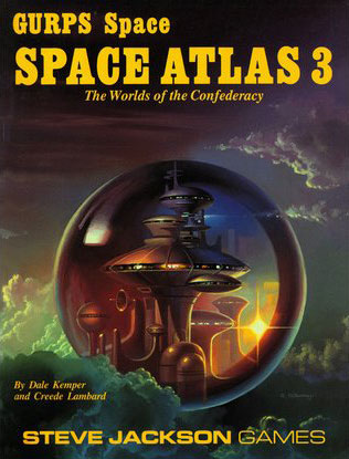 GURPS Space: Space Atlas 3: the Worlds of the Confederacy - USED