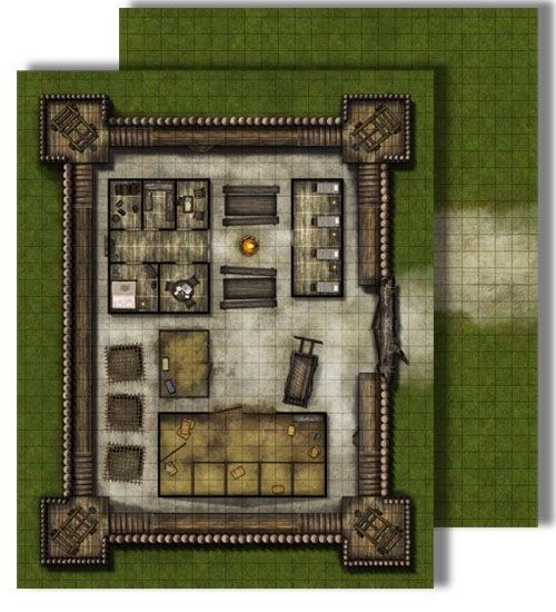 Pathfinder: Game Mastery: Flip-Mat: Bandit Outpost