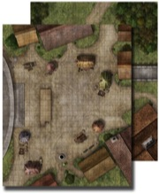 Pathfinder: Game Mastery: Classic Flip-Mat: Town Square