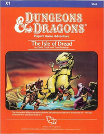 Dungeons and Dragons 1st ed: The Isle of Dread: X1 - Used