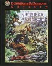 Dungeons and Dragons 2nd ed: Odyssey: Jakandor, Land of Legend - Used