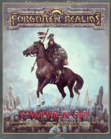Dungeons and Dragons 2nd ed: Forgotten Realms: Campaign Set: Box Set - Used