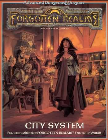 Dungeons and Dragons 2nd ed: Forgotten Realms: City System Box Set - Used