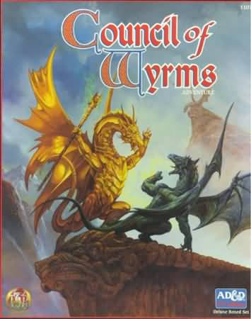 Dungeons and Dragons 2nd ed: Council of Wyrms Adventure Box Set - Used