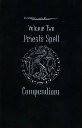 Dungeons and Dragons 2nd ed: Volume Two: Priests Spell Compendium- Used