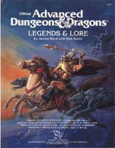 Dungeons and Dragons 1st ed: Legends and Lore: 2013 - Used