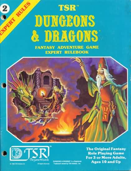 Dungeons and Dragons Basic: Fantasy Adventure Game Expert Rulebook - Used