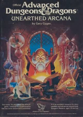 Dungeons and Dragons 1st ed: Unearthed Arcana - Used