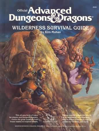 Dungeons and Dragons 1st ed: Wilderness Survival Guide - Used