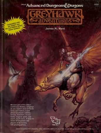 Dungeons and Dragons 1st ed: Greyhawk Adventures - Used