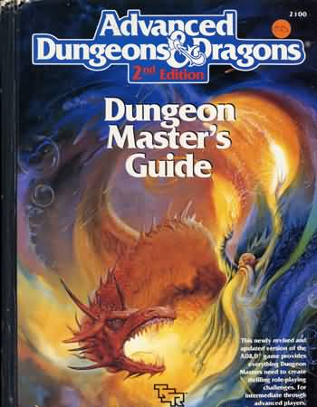 Dungeons and Dragons 2nd ed: Dungeon Master Guide - 2100